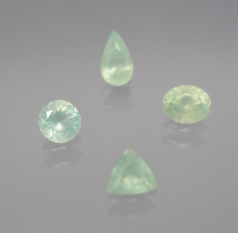 Adamite-Cupro facetted 3.6 mm, Mexico