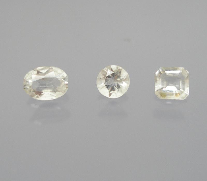 Beryllonite facetted 3 mm, Afghanistan