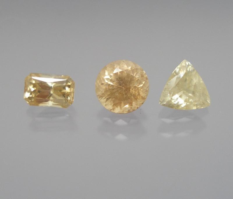 Cassiterite facetted 7x5 mm, Bolivia