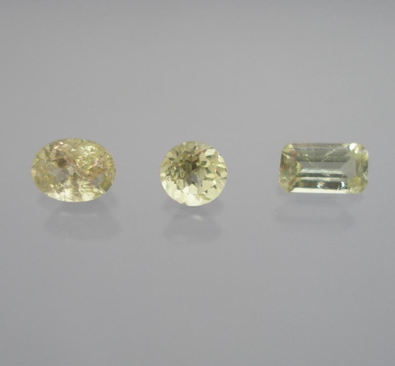 Vesuvianite facetted 3.8 mm, Canada
