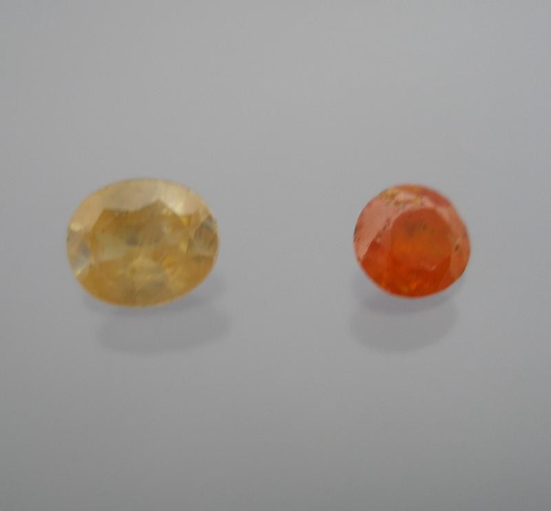 Wulfenite facetted 4 mm, Mexico