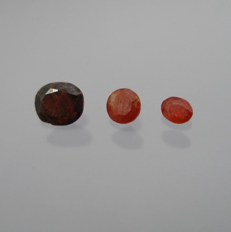 Zincite facetted 3.5x2.5 mm, New Jersey