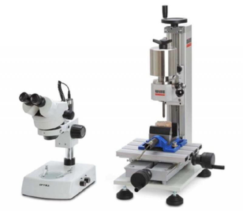 "Cerchar Rock Abrasiveness Tester ""TYP WILLE"" (Advanced Cerchar Rock Abrasiveness Tester with trinocular microscope and professional camera)"