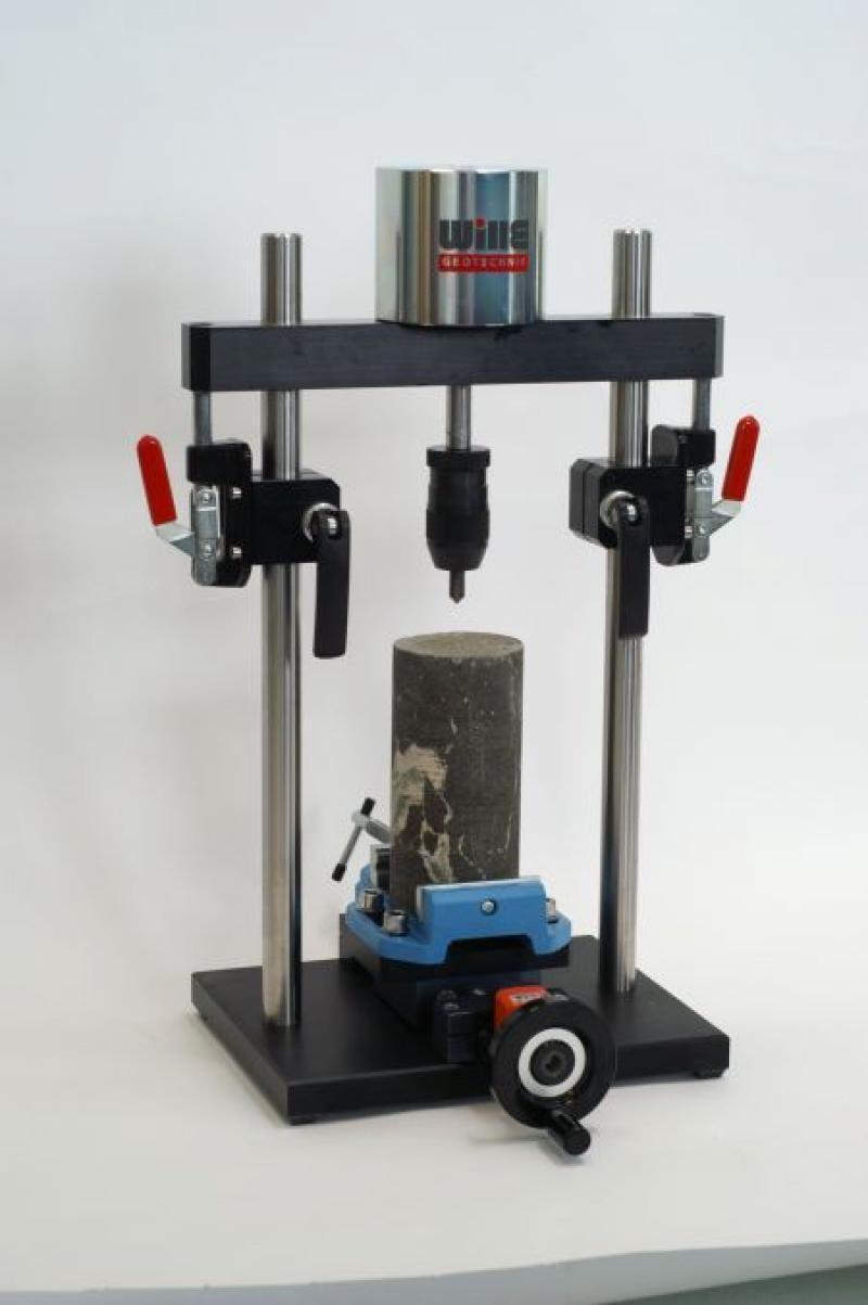 "Cerchar Rock Abrasiveness Tester ""TYP WILLE"" (Standard Cerchar Rock Abrasiveness Tester with binocular microscope)"