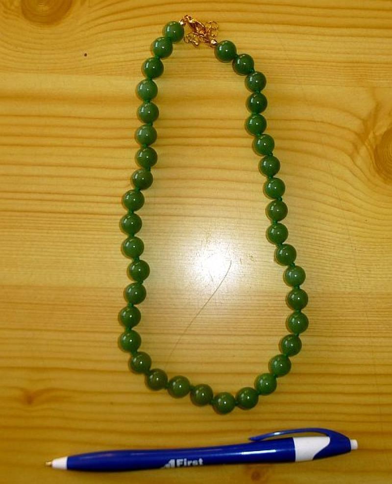 Aventurin (dark) bead string with 10 mm spheres, 45 cm, 1 piece