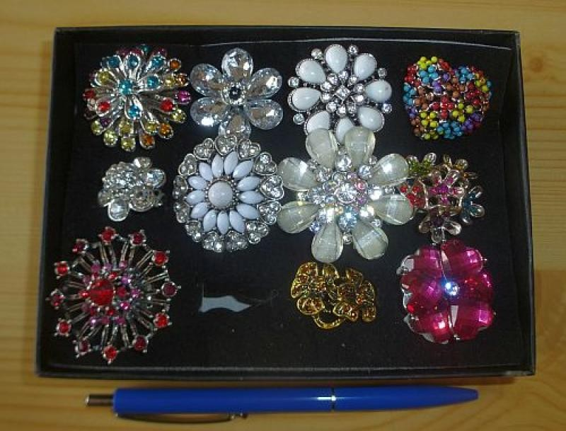 rings with adjustable size, large dimension, 1 piece