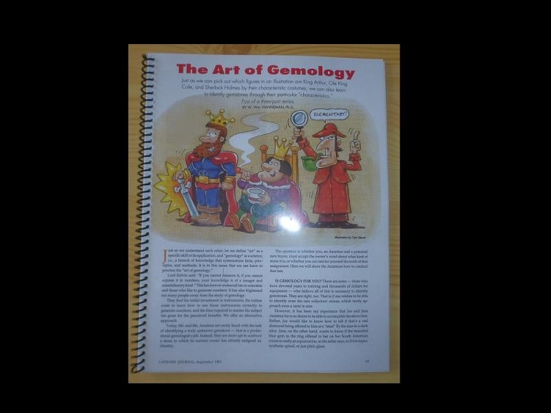 The Art of Gemology (introduction in gem studies) by Dr. Hanneman