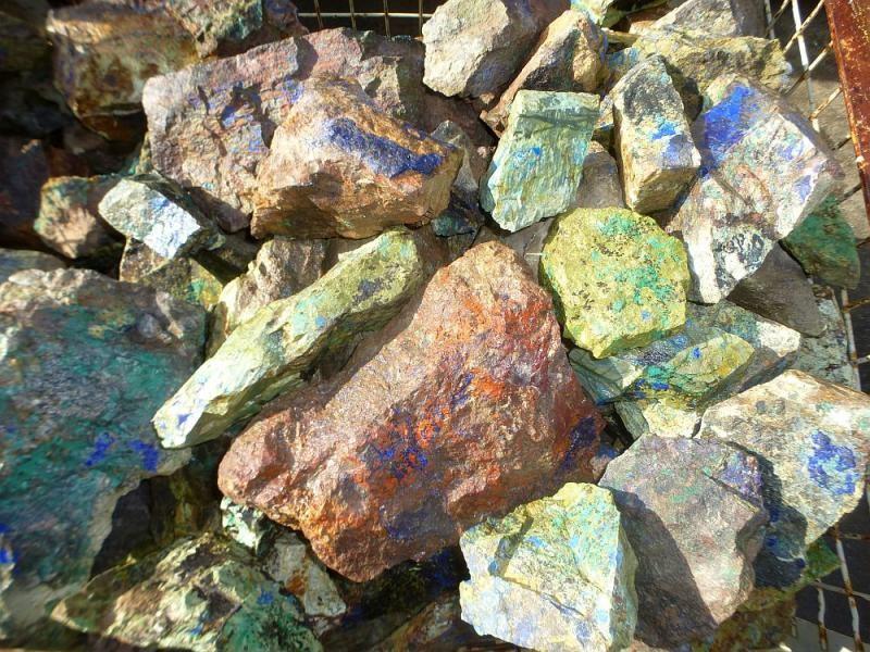 Azurite, Malachite, Morenci, AZ, USA, 100 kg