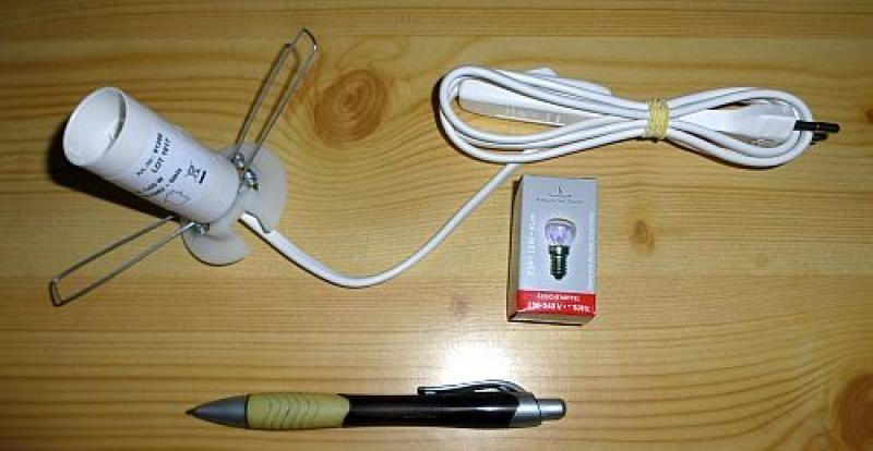 220 V electric illumination base for selenite or salt lamps, white