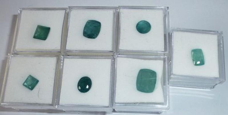 Grandidierite facetted 6x6 mm, Madagascar