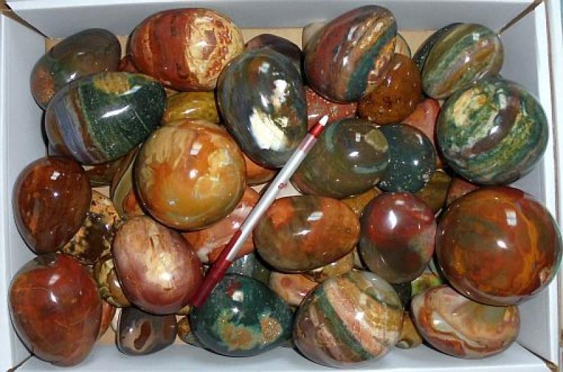 Picture Agate, polished, Madagascar, 10 kg