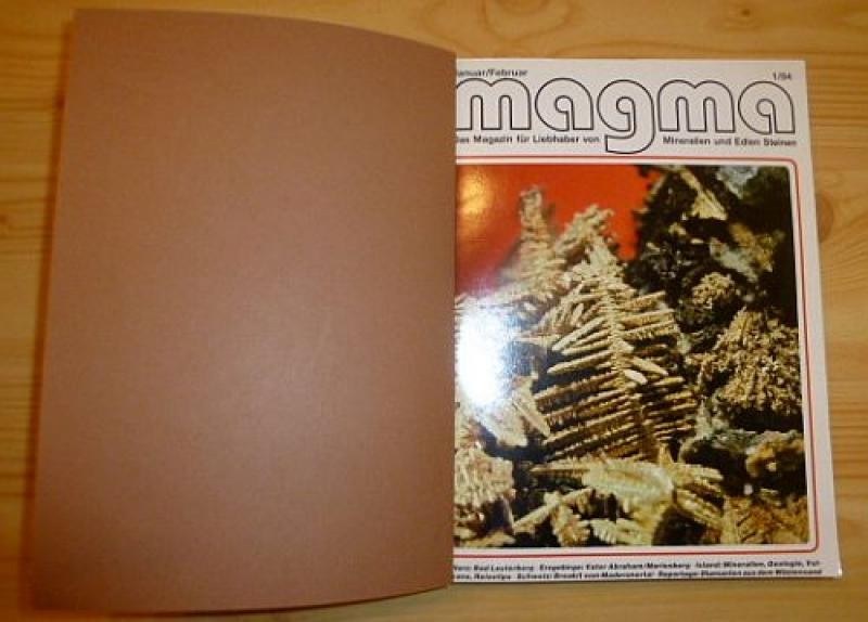 Magma Hefte, German mineral peridocal (7 issues, bound)
