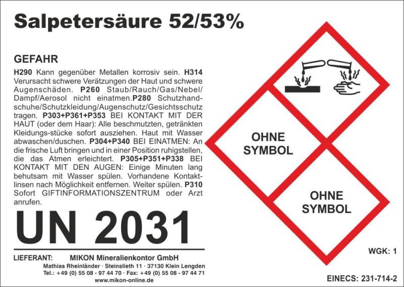 Nitric acid 1 l (delivery restriction)