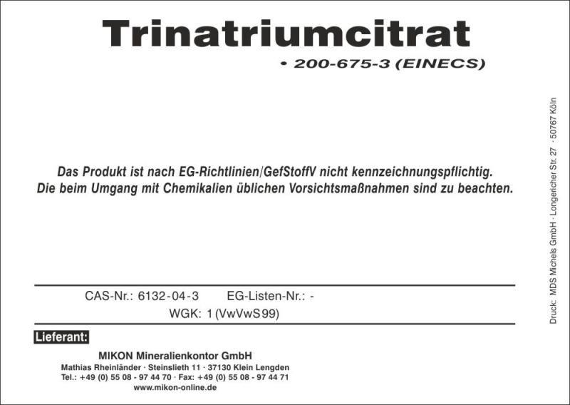 Trisodiumcitrat 25 kg