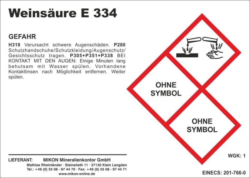 Tartic acid (E334) 25 kg