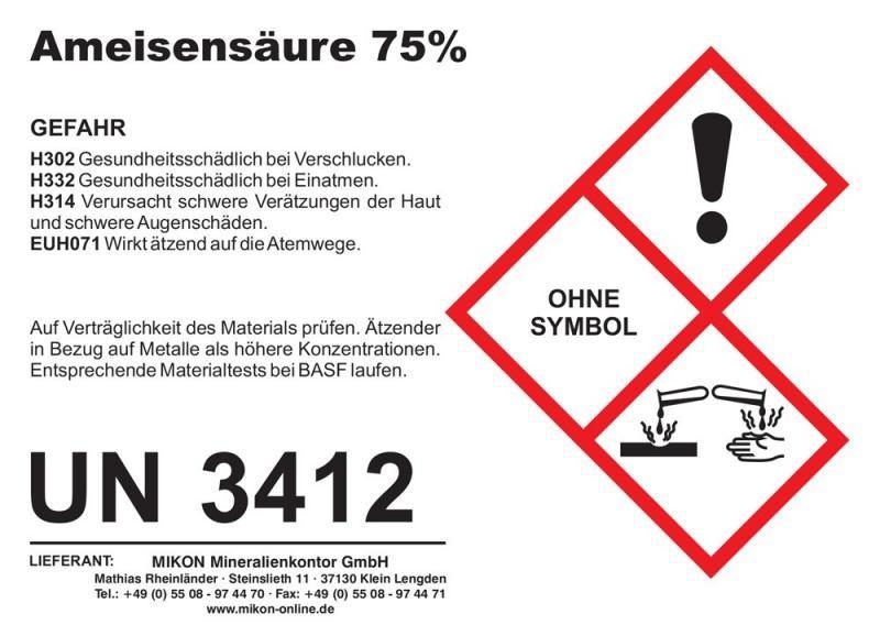 Formic acid 75% 1 l