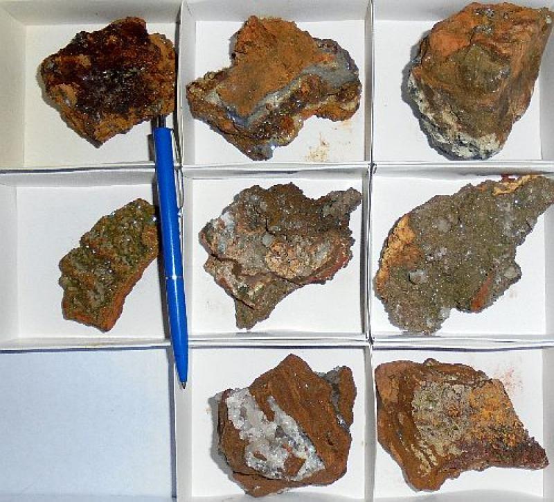 Adamite, Mimetite, etc., Mapimi, Mexico, 1 lot