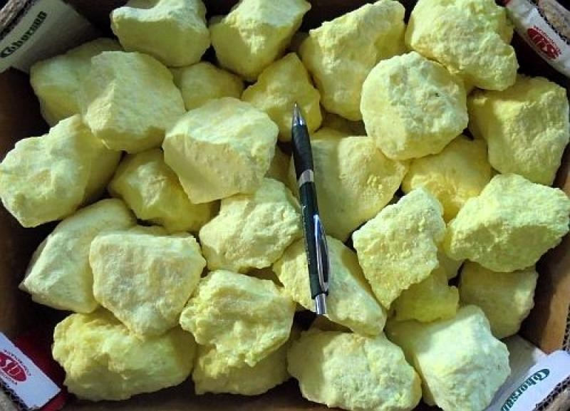 Sulfur, nat., Indonesia, 100 kg