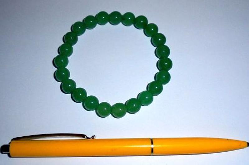 Wrist band, aventurine, 8 mm spheres, 1 piece