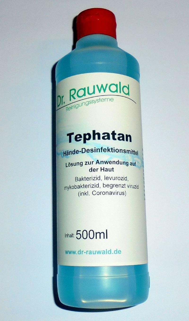 """Tephatane, hand disinfection lotion, specially for virus such as """"Corona"""" 1000 ml"""