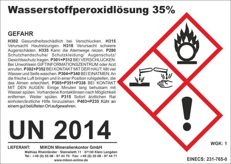 Hydrogenperoxid 35% (H2O2) 70 kg (app. 63 l)(delivery restriction)