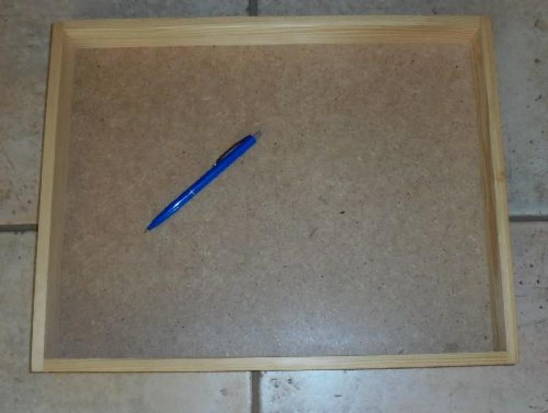 Wooden tray, wooden flat, made of real wood, 40 x 31 x 4 cm, 10 piece
