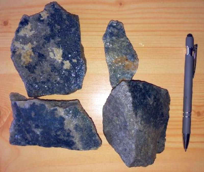 Vivianite with Quartzite, Silbergrube, Waidhaus, Hagendorf, Bayern, Germany, 10 kg