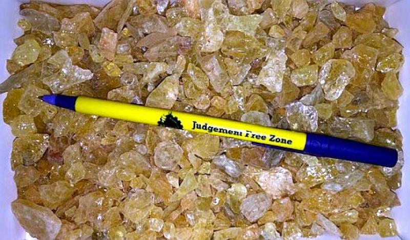 Danburite, yellow, gemmy, Tanzania, 100 g