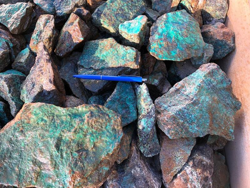 Chrysocolla with matrix, Rössingberge, Swakopmund, Namibia, 100 kg
