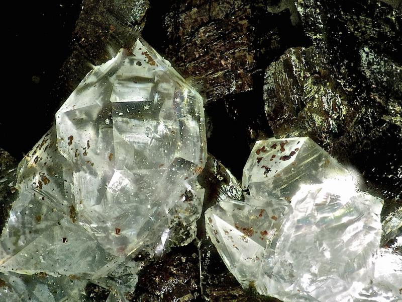 Siderite crystals with mountain quartz crystals (sparkly, druzy), Hüttschental, Harz, Germany, 1 kg
