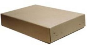 shallow stock flats of grey compressed card board, 1 pair