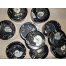 Ammonite box, with lid, black, 9 cm, 1 piece