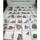 Ashburtonit, Caledonite etc., Tonopah-Belmont Mine, AZ, USA, 1 flat