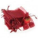 "Jewellery bags ""Organza"" red 1 piece"