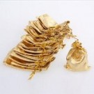 "Jewellery bags ""Organza"" golden 1 piece"