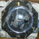Orthoceras plate, octogonal, black, app. 25 cm, 1 piece