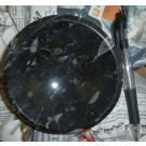 Orthoceras bowl, round, black, app. 10-12 cm, 1 piece