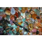 Jaspis and others Cabochon 10-15 mm, Madagascar (10 pieces)