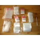 zip lock bags, 080 x 120 mm