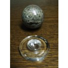 "Acrylic base, beveled, 2"" x 1/2"" round, EGG/SPHERE STAND, fully polished, pack of 5 pcs. (RD51x5)"