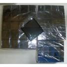 Gemstone box, 6x6x2 cm, black, 1 piece