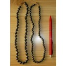 Necklace with 6 mm hematite spheres, 45 cm long, 1 piece