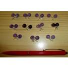 Amethyst (real) bead ear stud 925 sterling silver 8 mm (1 pair)