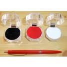 Jewellery box, acrylic with velvet inlay (red) 4x4 cm, 10 pieces