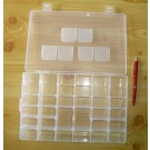 set case with an interchangeable number of compartments (6 through 36)