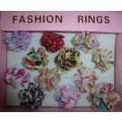 Flower rings (textile), set of 12 different ones