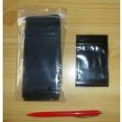 zip lock bags, black, 040 x 080 mm