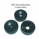 OPL conical discs, set of 3 with solvent resistant coating