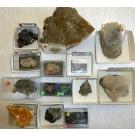 Smithsonite xls, Tsumeb + Berg Aukas, Namibia, 1 lot of 14 high end specimen