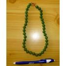 Aventurin (dark) bead string with 8 mm spheres, 45 cm, 1 piece